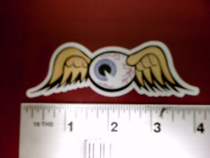 Flying Eyeball Vintage Drag Racing window sticker decal Von Dutch NHRA Rat Rod