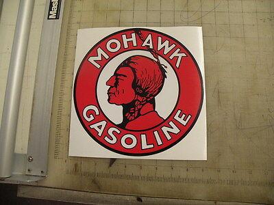"""Vintage Mohawk Gasoline sticker 9"""" diameter"""