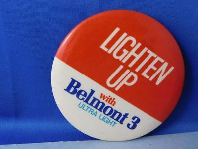 - BELMONT 3 LIGHT CIGARETTES BUTTON VINTAGE TOBACCO ADVERTISING PIN BACK