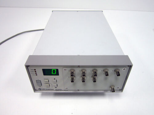 JDS UNIPHASE SB 1X8 OPTICAL FIBER SWITCH SB1C10081+27XF000SP ST C CONFIG JDSU