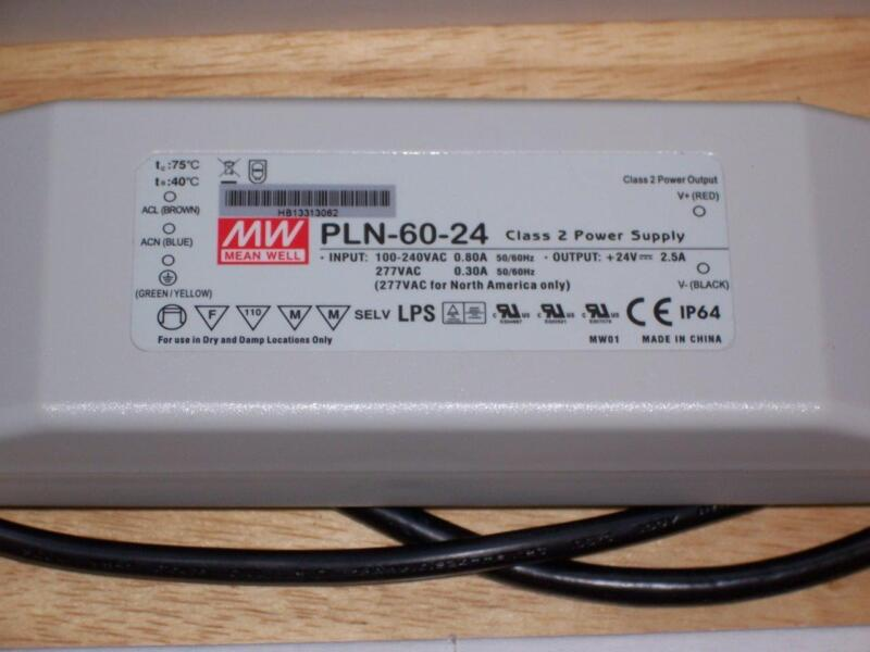 MEAN WELL PLN-60-24 LED DRIVER ACTIVE PFC 60 W 24 V 2.5 A CONSTANT CURRENT NEW