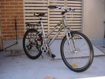 Silver Aluminium Mountain Bike