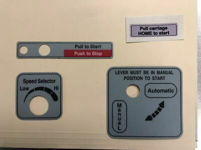 Hobart Slicer Sticker Label Decal Set For Models 2712 2912 New 9521 Manualauto