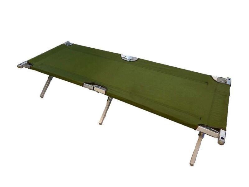 New U.S. Military Army G.I. Genuine Issue Aluminum Folding Cot Olive Drab/Green