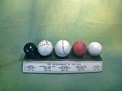 History Of The Golf Ball Display Desk Plaque Very Highly Detailed Must Have