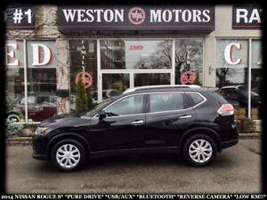 2014 Nissan Rogue S*PURE DRIVE*USB*AUX*BTOOTH*REVERSE CAMERA*LOW