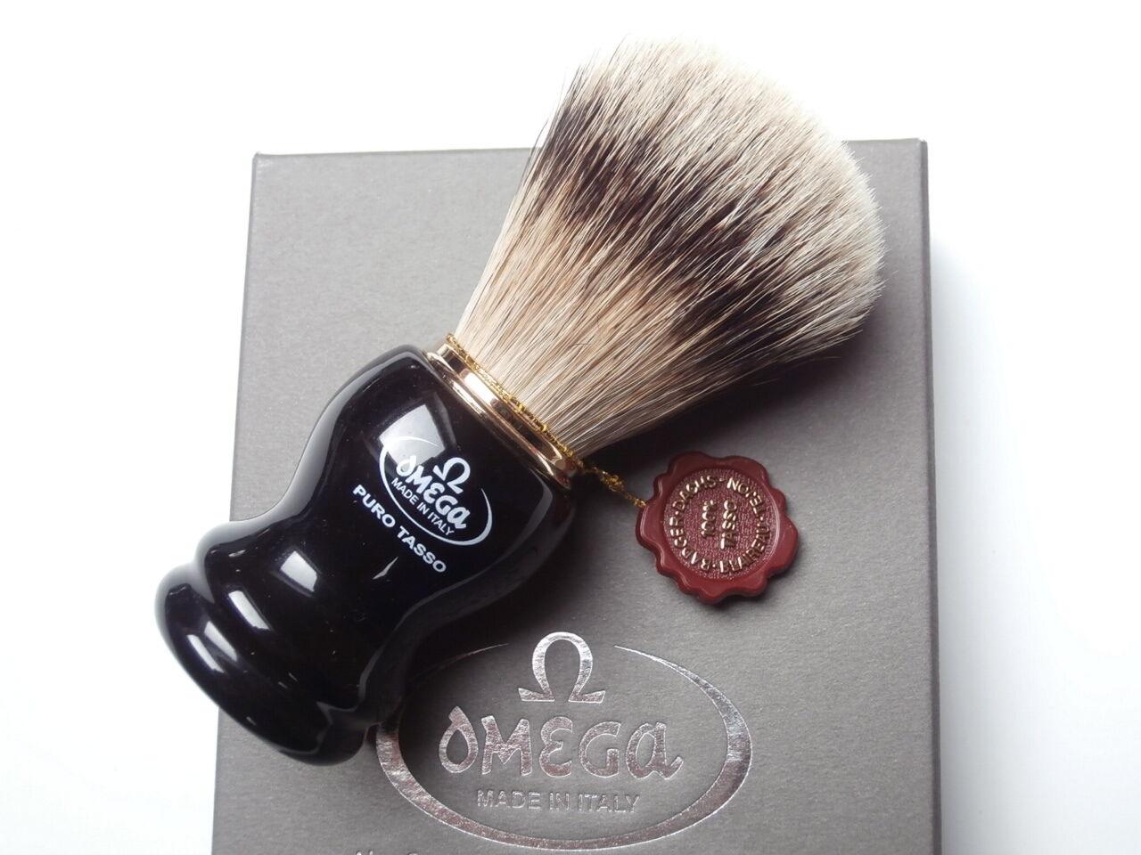 TOP Rasierpinsel OMEGA Dachs Bester SILBERSPITZ Shaving brush Silvertip !!
