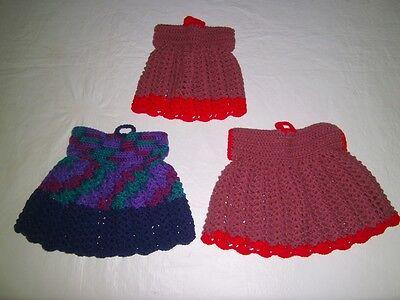 Retro Vintage Knit  tea cosy / cozy handmade three shape of dresses