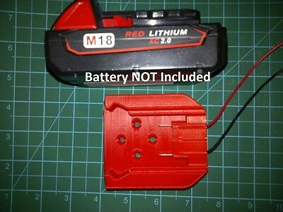 Mount for Milwaukee M18 Battery with terminals to power your design