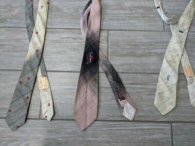 1960s – 70s Men's Ties | Skinny Ties, Slim Ties 1950s 1960s skinny tie lot (3) silk DETROIT  neck ties MAD MEN rockabilly $19.95 AT vintagedancer.com