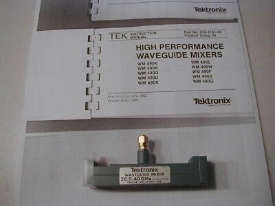 Wmx10 Tektronix 26-40 Ghz Wg Mixer For 492 Later Spec Ans. W Book Copy Nos