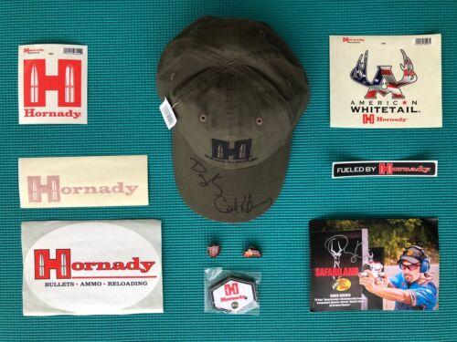 HORNADY COLLECTION- AUTOGRAPHED GUN CAP CARD STICKERS PINS PATCH KOENIG BERNOSKY