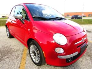 2012 Fiat 500 Lounge Convertible 5 Spd *** CERTIFIED ***