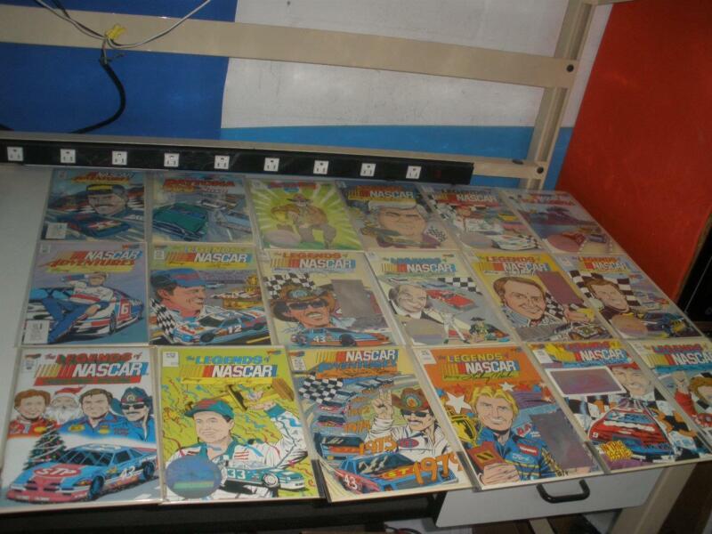 Lot of 18 Vortex Legends of NASCAR Comics Petty Elliot Wallace Many others Lot 2