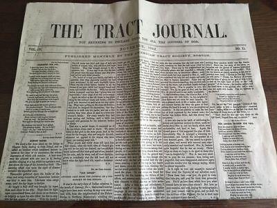 Civil War Era Christian Newspaper Reprint   The Tract Journal