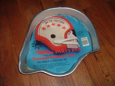 WILTON 1979 Football Helmet Cake Decorating Party PAN W Decorating Ideas