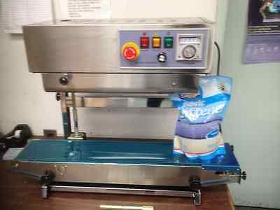 Fr-900v Vertical Automatic Continuous Plastic Bag Band Sealer Machine