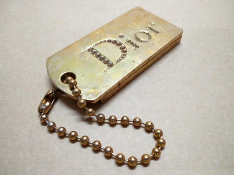 Rare Vintage Christian Dior Sparkling Case Keychain keyring Made In France B572