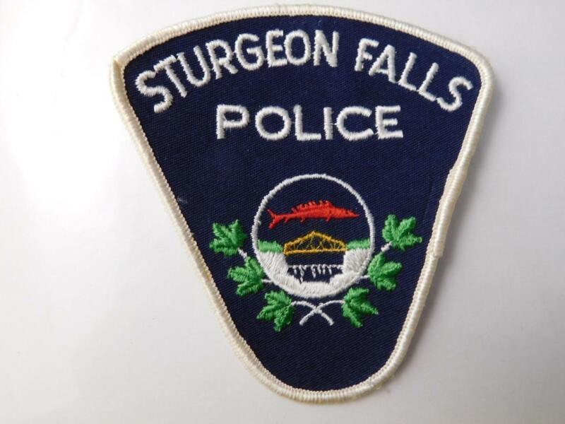 STURGEON FALLS POLICE VINTAGE PATCH BADGE ONTARIO CITY CANADA COLLECTOR