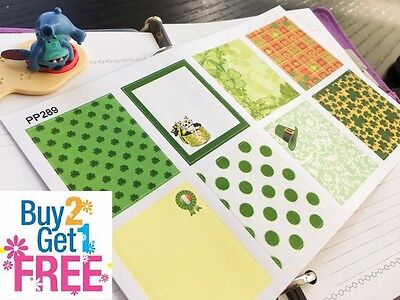 PP289-- St Patrick's Day Decoration Box Planner Stickers for Erin Condren (8pcs)