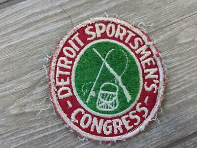 DETROIT SPORTSMEN/'S CONGRESS HUNTING FISHING ARCHERY PATCH NEW FREE SHIPPING !!!