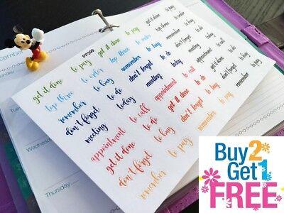 PP399-- Assorted Planner Words Planner Stickers for Erin Condren (54pcs)
