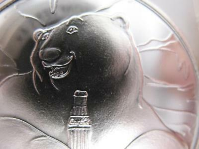1995 RARE CLASSIC COKE, COCA COLA # PROOF POLAR BEAR COIN 1-OZ SILVER.999+GOLD