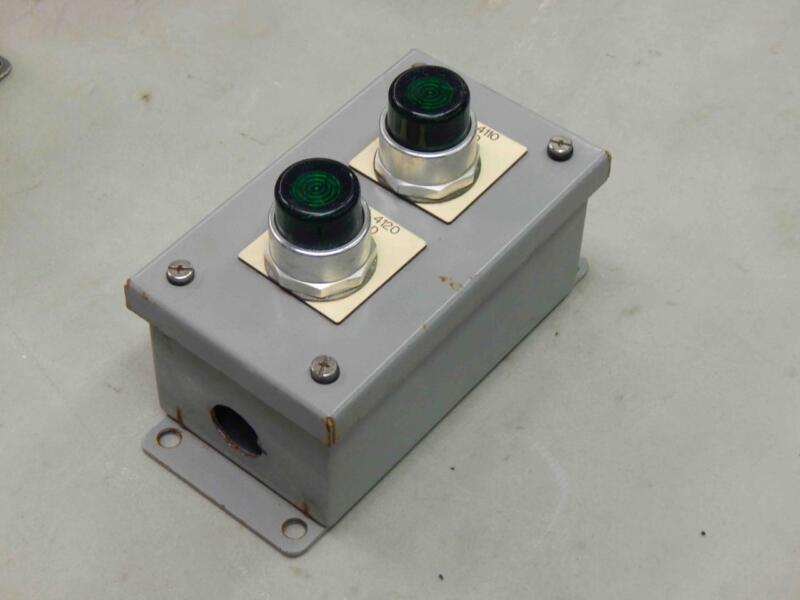 Allen Bradley 800t-qb24g (x2) Saginaw Sce 1017824 Sce-2pb Junction Box Enclosure