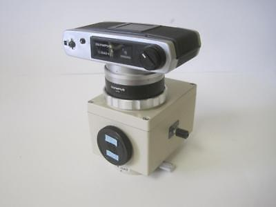 Olympus C-35ad-4 Microscope Camera With Pm-10ad Automatic Exposure Body Used