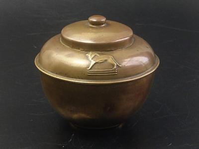 Lipton's Brass Souvenir Tea Caddy British Empire Exhibition 1925