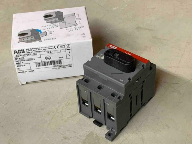 ABB, OT80F3, 1SCA105798R1001, 3P, 80A Disconnector Disconnect Switch, 80 Amp