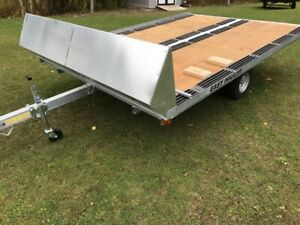 Easy Hauler 10ft Galvanized Double Snowmobile Trailers on Sale