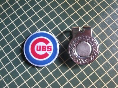 GOLF / Chicago Cubs Logo Golf Ball Marker/with Magnetic Hat Clip - Chicago Cubs Logo Ball