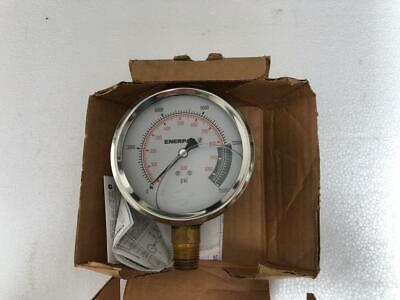 Enerpac G4040l 4 Glycerin Filled Hydraulic Gauge 1000 Bar 15000 Psi 2