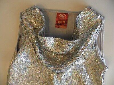 Disney Camp Rock Top Tunic Silver Sequins Mitchie Girls 10 12 Medium Halloween - Camp Rock Halloween Costumes