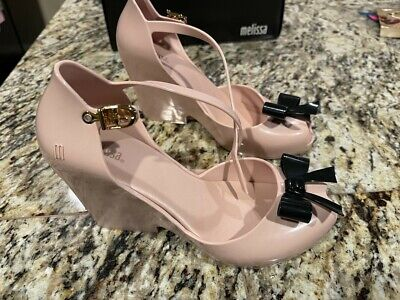 Melissa Space Love Pink and Black Shoes Size 7