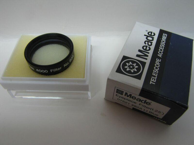 "1.25"" Meade LT Blue #82A Telescope Eyepiece Filter Series 4000 Glass Coated NEW!"