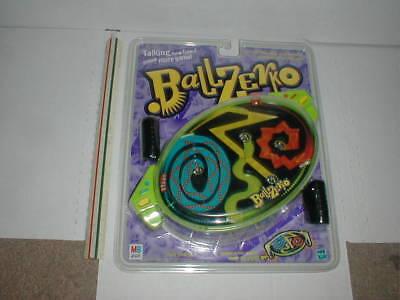 1998 Ballzerko TALKING Handheld Pinball Maze Game MILTON BRADLEY Vtg Toy MIB NOS