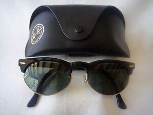 Vintage-RAY-BAN-CLUBMASTER-G15-US-B-amp-L-anos-80-Gafas-de-sol