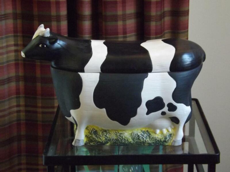 Warren Kimble Cow Cookie Jar Sakura