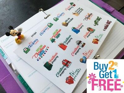 PP394--  Christmas Planning To Do List Planner Stickers 4 Erin Condren (20pcs) - Christmas Scrapbook