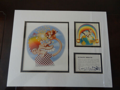Grateful Dead Stanley Mouse Signed Lithograph Print - Ice Cream Kid/Rainbow Foot
