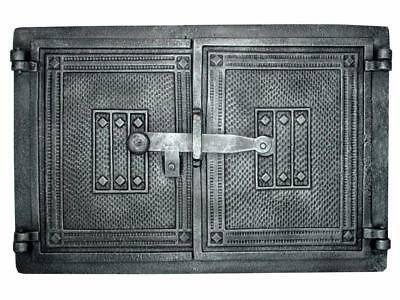 Cast Iron Fire Door Clay Bread Oven Pizza Stove Quality Silver (PR) 41 x 27