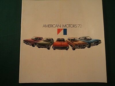 1972 AMC Ambassador Car SST 2 4 door Hardtop Station Wagon V8 Sales Catalog NOS