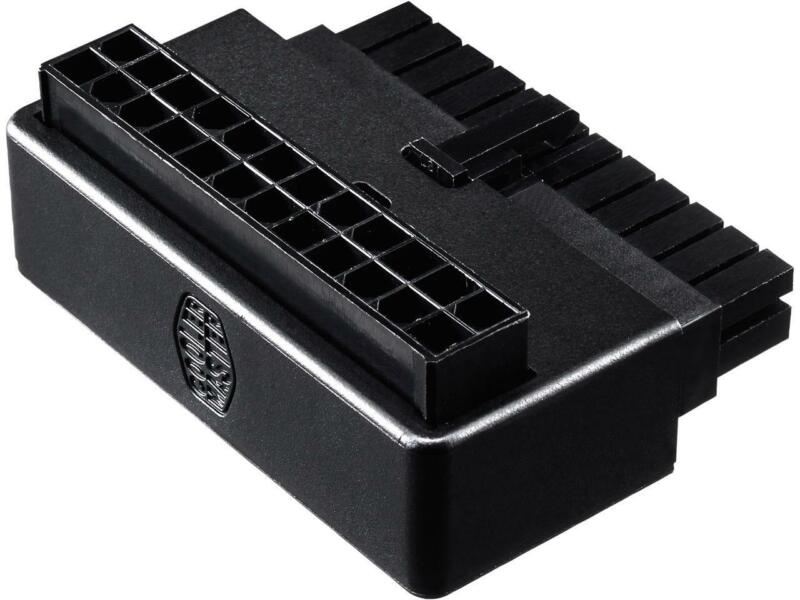 Cooler Master Universal ATX 24 Pin 90° Adapter , w/ added capacitors for stable
