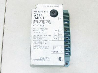 Johnson Controls G775rjd-13 Intermittent Pilot Ignition Control 025-29012-003