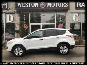 2013 Ford Escape S*POWER GROUP*ACCIDENT FREE*A MUST SEE!!*