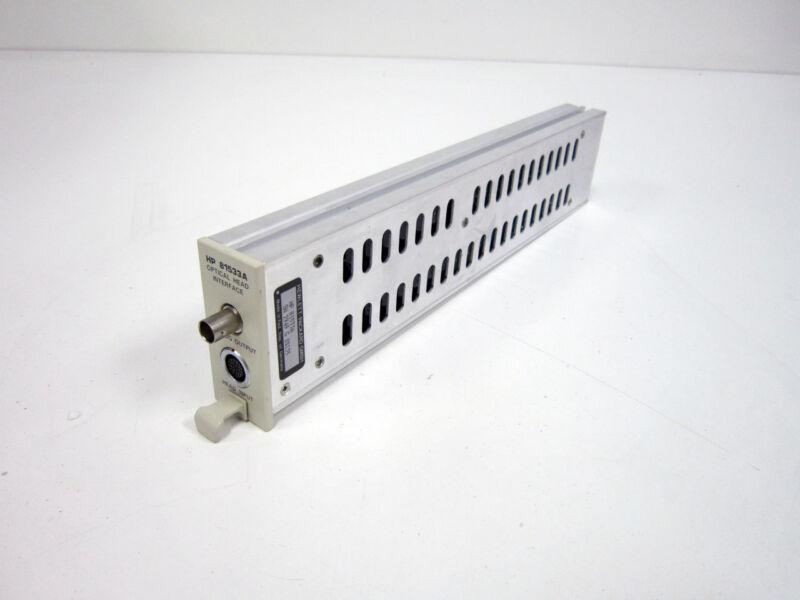 HP 81533A OPTICAL HEAD INTERFACE MODULE 450-1020NM +10 TO -100 DBM ~ AGILENT
