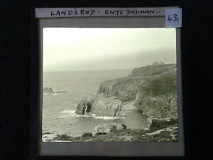 43-Lantern-Glass-Slide-Enys-Dodman-Lands-End-Cornwall-ORIGINAL-Photo-pre-1920s