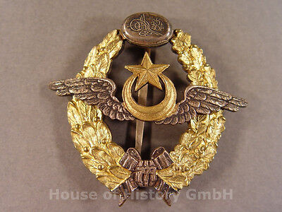 Türkei: Flugzeugführerabzeichen für türkische FLUGZEUGFÜHRER, 925er Silber, 9282